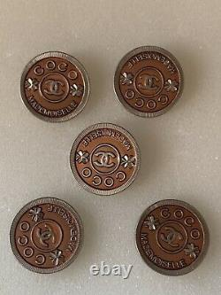 6 boutons Coco mademoiselle vintage