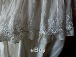 Ancienne Chemise broderie dentelle Valenciennes Lovely lace shirt 19th century