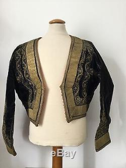 Milieu XIXè Veste Broderie Fil d'Or Victorian French Jacket Mid 19thC Embroidery