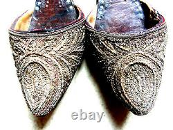RARE MULES ORIENTALIME. § PERSES. OTTOMAN. BRODEES FIL D'OR XVIII em