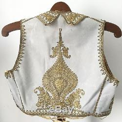 XIXè Boléro Zouave 1860 era Broderie Fil d'Or Victorian French Jacket Mid 19thC